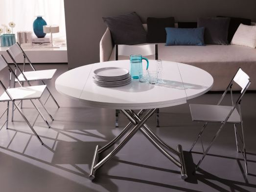 table relevable extensible ronde