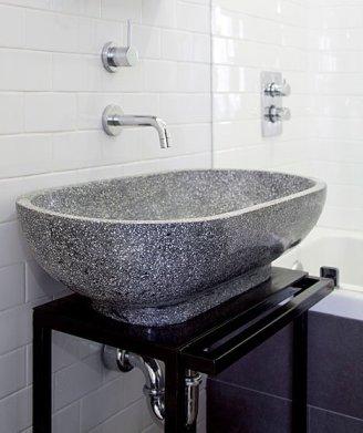 vasque de salle de bain en terrazzo