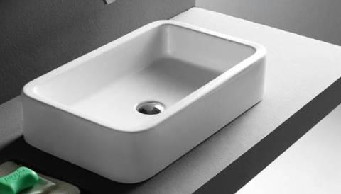 vasque rectangulaire en céramique