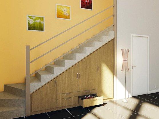 placard sous escalier