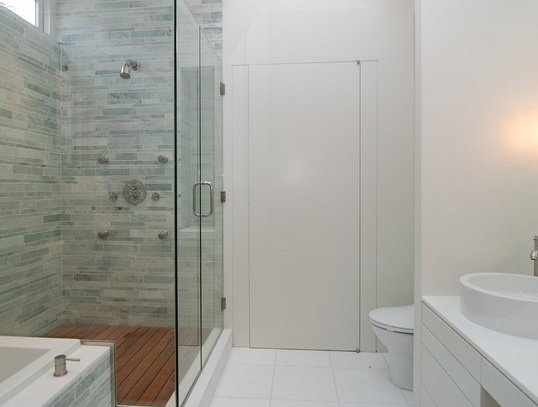 receveur de douche en teck