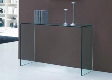 table console en verre