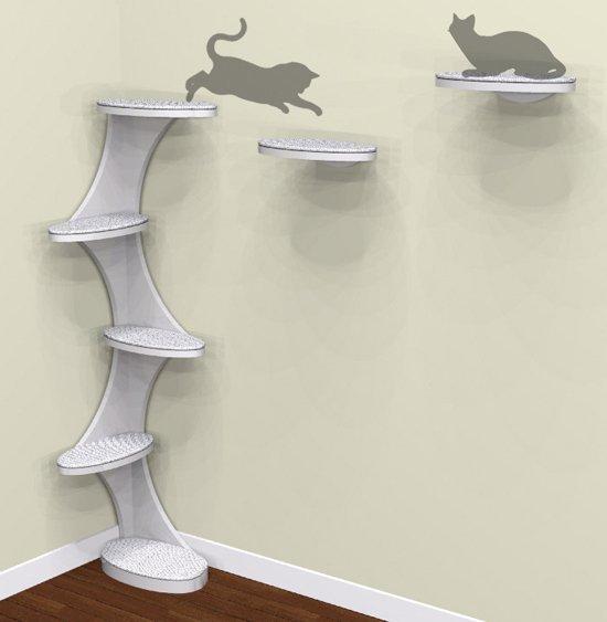 tour pour chat design avec marches