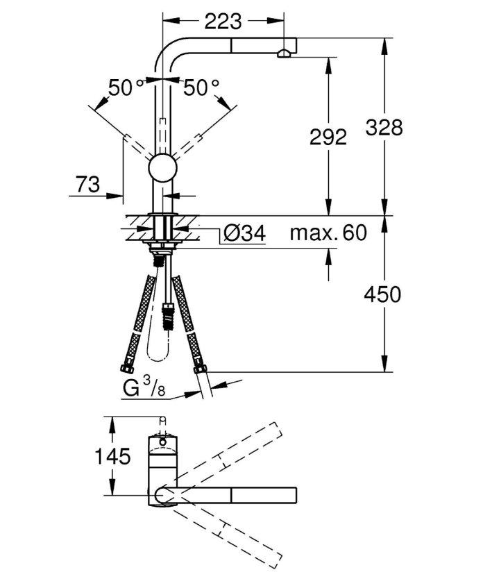installation mitigeur AVIS robinet GROHE Minta