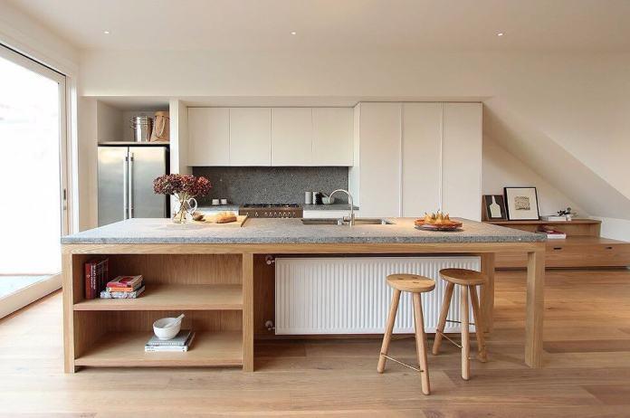Place au chic et à la sobriété avec cette cuisine en gris béton.
