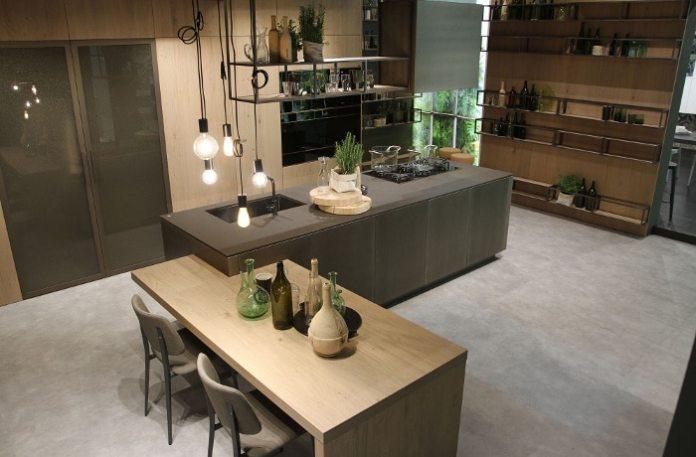 Admirez l'élégance de cette cuisine moderne de la marque Snaidero!