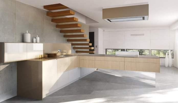 Voici une autre idée d'aménagement d'une cuisine contemporaine à l'ambiance minimaliste.