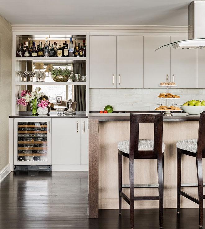Une cuisine ouverte et conviviale.