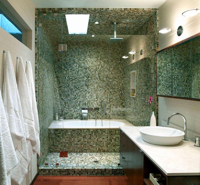 mosaique dans douche