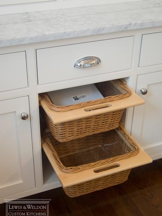 Du coup, cela fait moins désordre dans la cuisine avec les paniers métalliques.