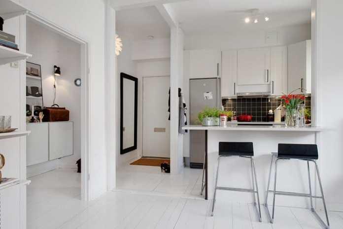 De petit format, cette cuisine ouverte s'intègre dans tous les intérieurs, studio ou petit salon.