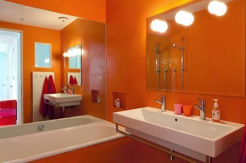 Salle de bain orange: ces 5 modèles vont vous faire changer ...