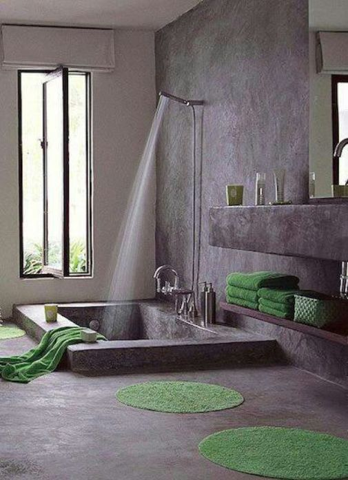 salle de bains tyle industrielle