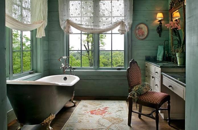 Une salle de bain esprit victorien. Source : homelisty.com
