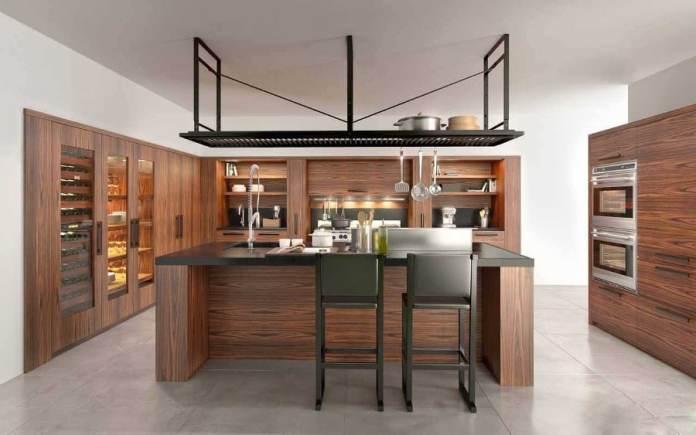 Un modèle de cuisine en bois moderne qui incarne l'élégance et le raffinement.