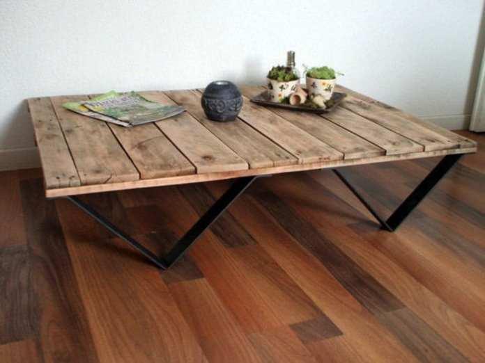 fabriquer-table-basse-palette-palette-en-bois