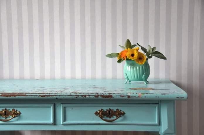 peinture de chambre turquoise