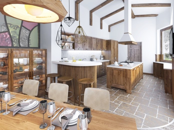 salle à manger rustique et campagnarde