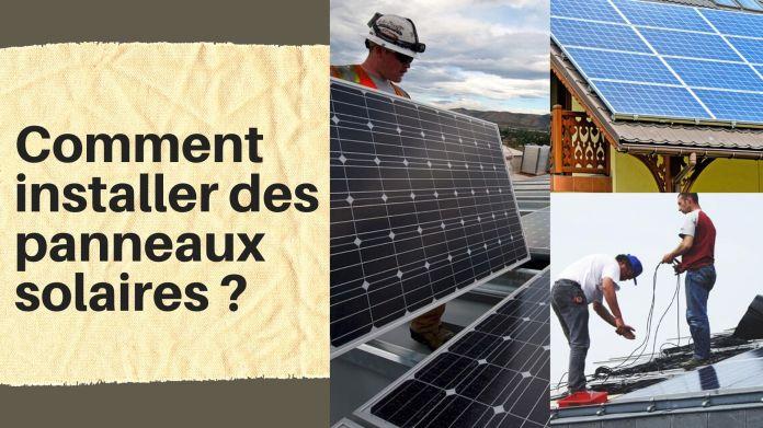 description des étapes pour installer des panneaux solaires photovoltaïques