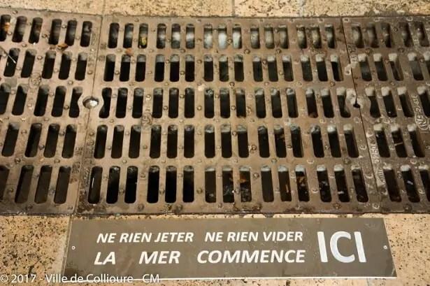Plaque d'égout Collioure
