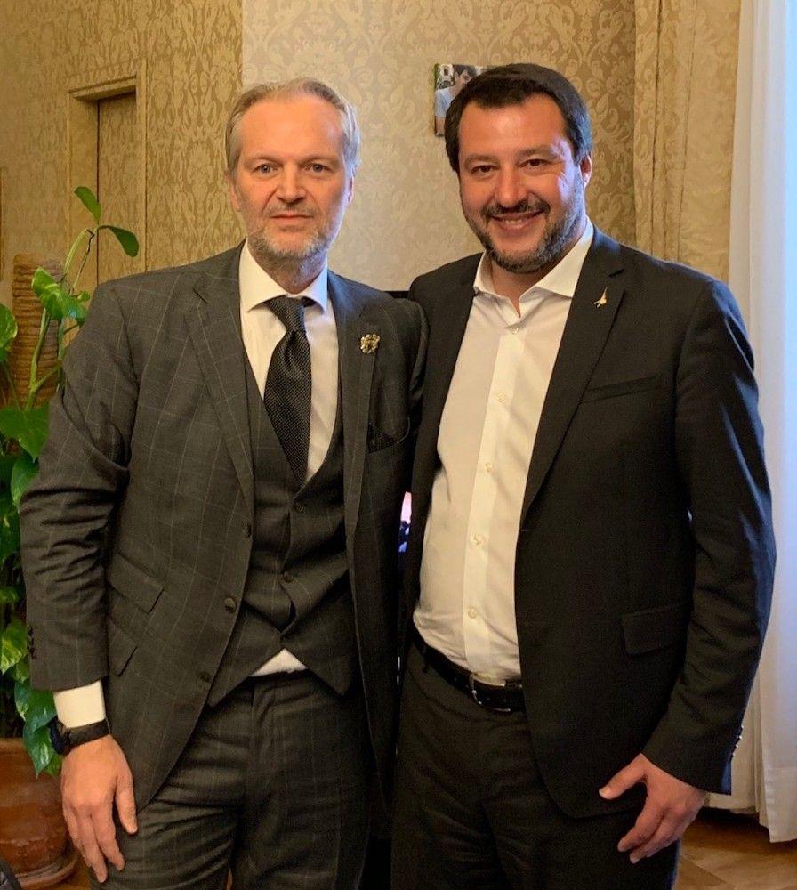 Colasuonno Taricone con Salvini