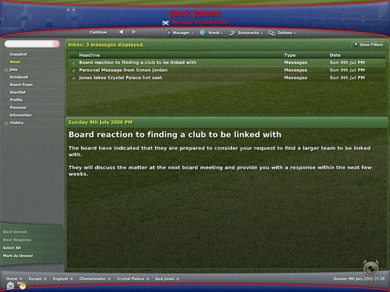 Content: Football Manager 2007