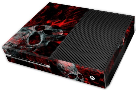 Microsoft XBox One Skin Vampire Skull Red