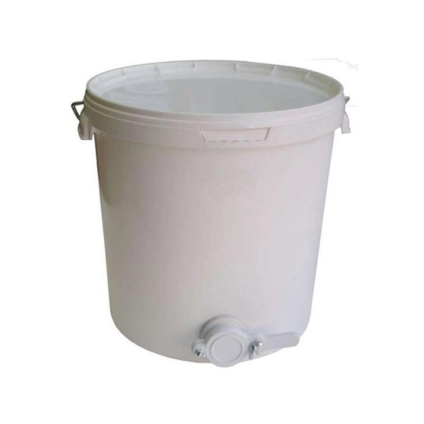 Secchio in polipropilene per miele da  17,7L - 25kg con valvola in plastica
