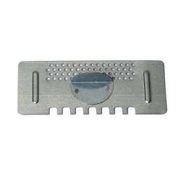 Porticina zincata dentata forata, (aperta-chiusa) per arnia da 6