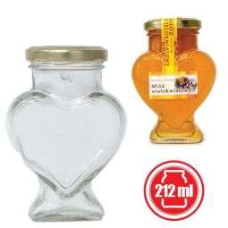 Vaso 280g, modello cuore, confezione 15 pezzi