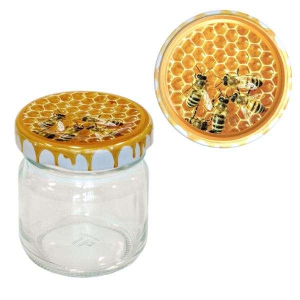 Vasetto 50g, tappo con disegno api new, confezione 30 pezzi