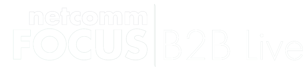 logo netcomm focus b2b live white