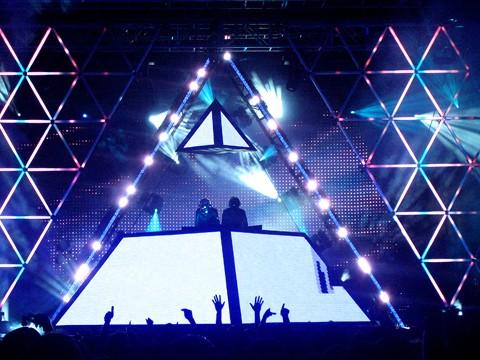 Daft Punk Illuminati Pyramid