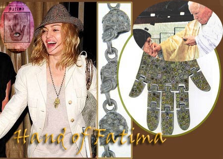 Madonna Hand of Fatima Bling
