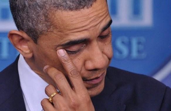 Obama Man Tears