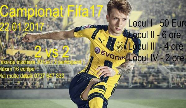 Campionat Fifa 17 2 vs 2@Play Cafe
