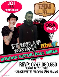Stand Up Comedy & Karaoke After Party la Vintage Pub