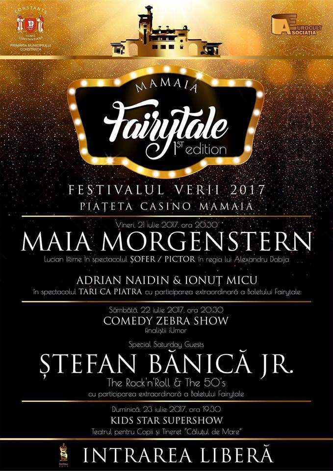 Program evenimente Fairytale Mamaia 2017 - week-end 21-23 iulie 2017