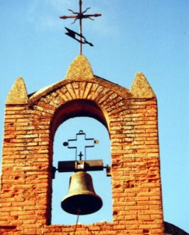 A beautiful belltower on a derelict church in Calzadilla