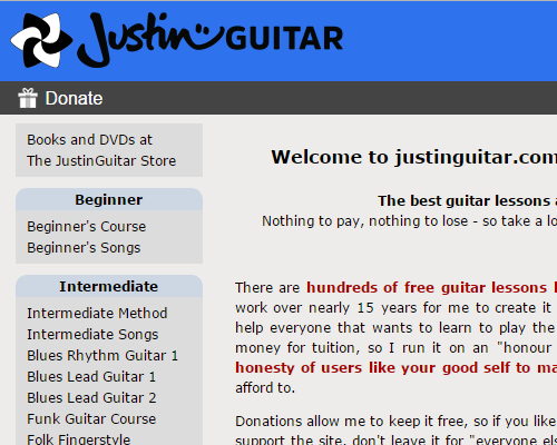 Top 7 Websites For Free Online Guitar Lessons - Constantine