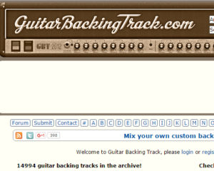 List Of Websites For Free Guitar Backing Tracks