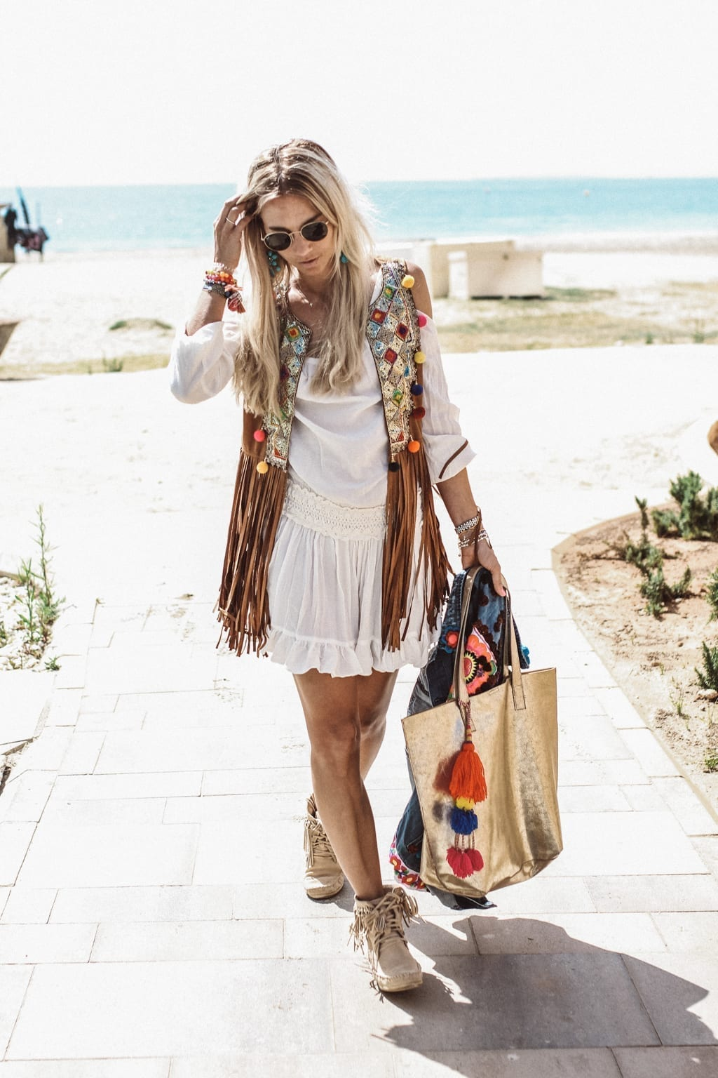 Boho chic in ibiza constantly k street style fashion blog Bohemian style fashion blogs