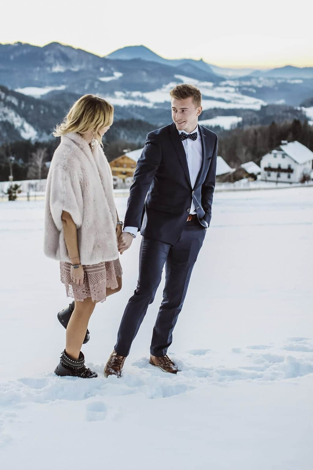 Karin Kaswurm und Georg Teigl im Schnee