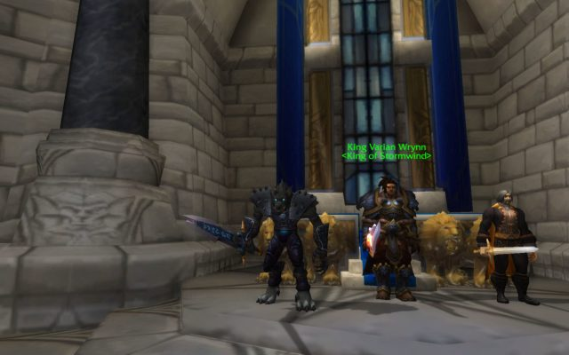 Worgen and Varian Wrynn