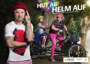 Mateo Jaschik Hut ab Helm auf