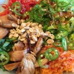 Deconstructed Vietnamese chicken salad
