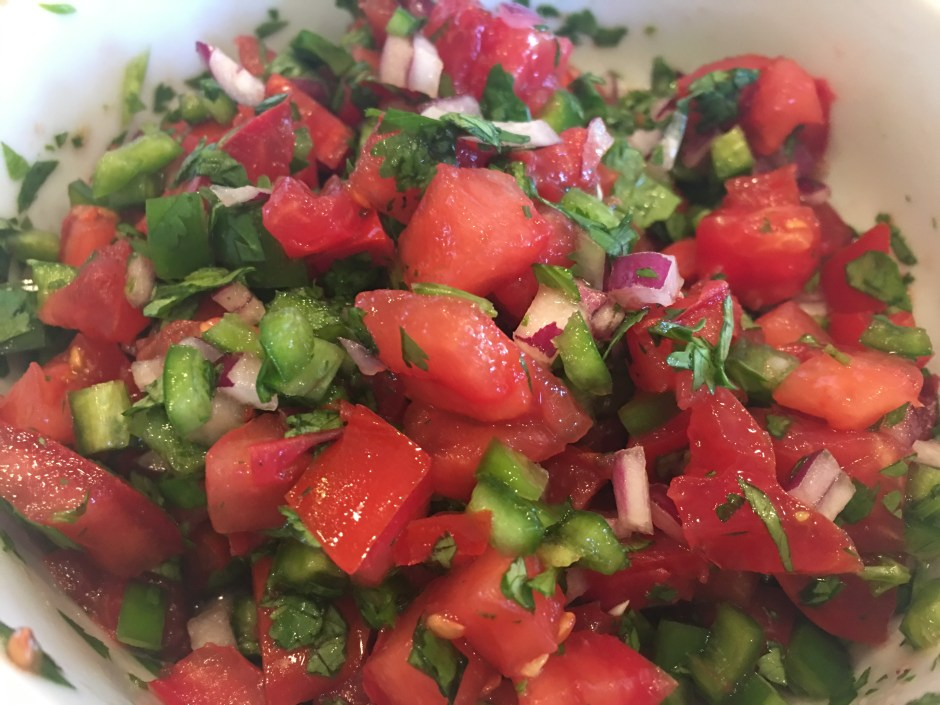 pico de gallo for how to make breakfast tacos