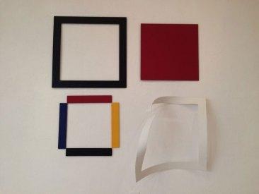 """Obra del artista Pedro Fermín titulada """"Subyacente"""" (Homenaje al cuadrado) Premio Arturo Michelena de la Bienal 65 / Foto: Gabriela Trillo"""