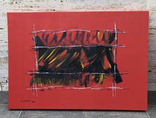 Box Rojo #2 100x70 Acrilico Tela
