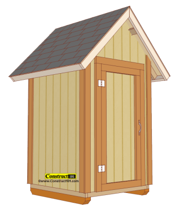 Free Shed Plans   with Drawings   Material List   Free PDF Download     small garden shed plans  PDF download